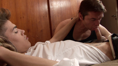 thumb Silver Haze Kine Bud   Twink whips out thick dick for his older partner